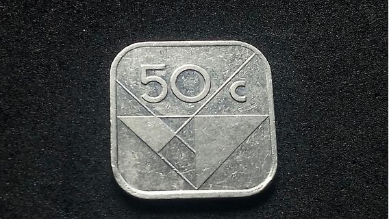 Aruba 50 Centavos 1992 Acero Bañado S/circular Lote145