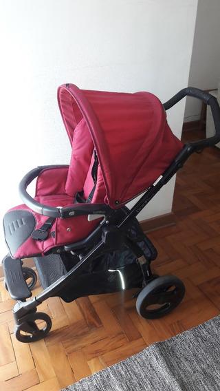 Carrinho De Bebê Peg Perego Cereja Com Bebê Conforto