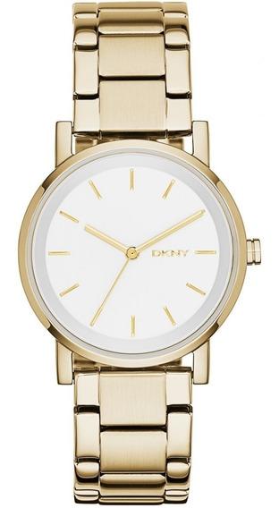 Relógio Luxo Feminino Dkny Donna Karan Dourado Nf Ny2343/4bn