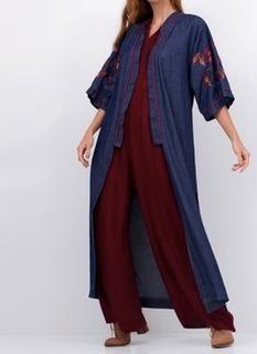 Kimono Jeans Bordado
