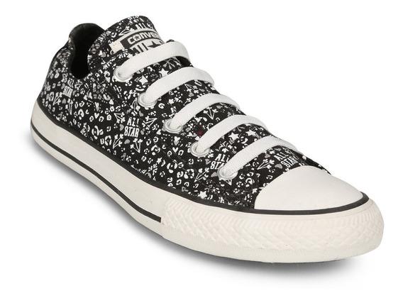 Zapatillas Converse All Star Negro Estampa Precio Especial