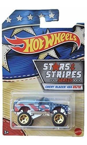 Imagen 1 de 2 de Blazer Chevy Serie Hot Wheels Stars Y Stripes 4x4 5/10, Azul