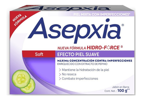 Asepxia Jabón Soft 100 Gr