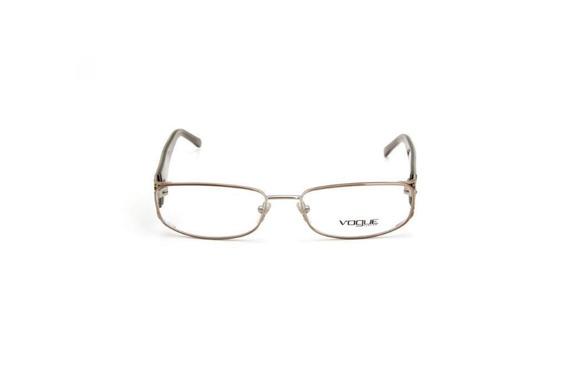Oculos De Grau Feminino Vogue Metal Quadrado Dourado