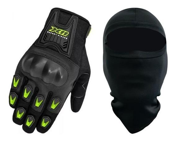 Luva X11 Blackout Motoboy Motoqueiro Moto Motociclista+touca