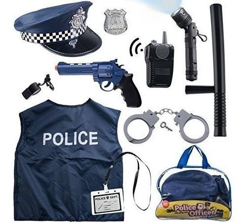 Disfraz De Policia Para Niños Set De 12  Piezas Born Toys