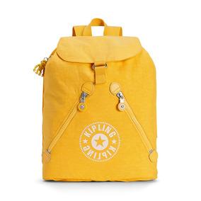 Mochila Fundamental Nc Amarela Lively Yellow Kipling