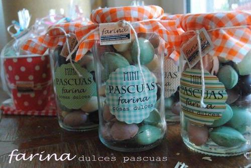 Mini Huevos De Pascua Rellenos En Frasco Regalo