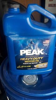 Lubricantes Peak Sae 15w40 Api Cj-4 Sm Made In Usa