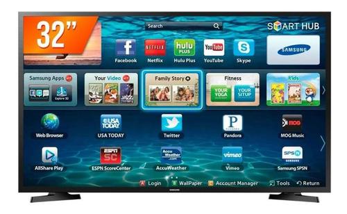 Imagem 1 de 4 de Smart Tv Samsung Led 32  2hdmi 1usb Preto Bivolt