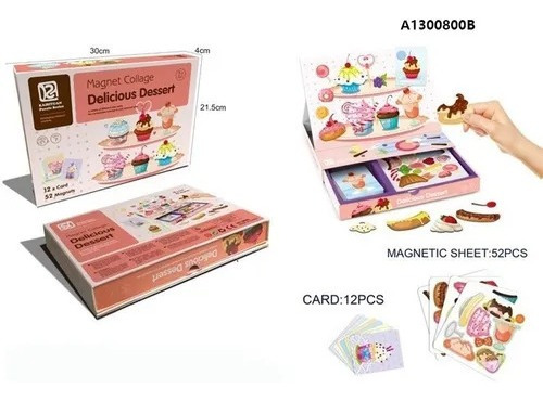 Dulces Y Postres Magnéticos Juego Didáctico Magnet Collage