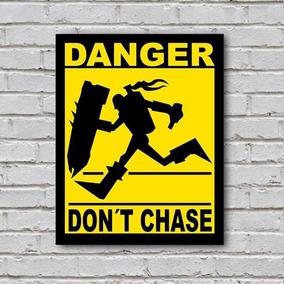 Placa De Parede Decorativa: Danger! Don