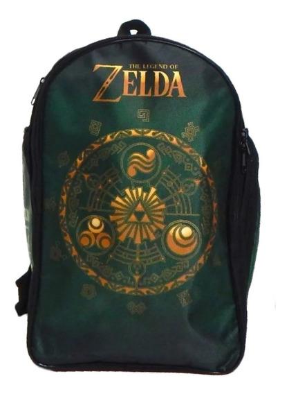 Zelda Mochila Escolar Backpack Link Trifuerza Elementos
