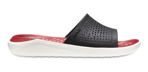 Crocs Literide Slide Negro/rojo
