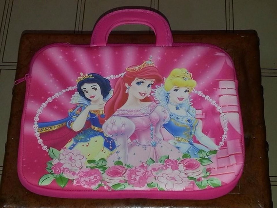 Funda Tipo Maletin De Neopreno Para Laptop De Princesa