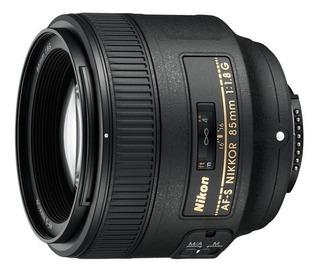 Lente Nikon 85mm Af-s F/1.8g Garantía Caja Originial Bolso