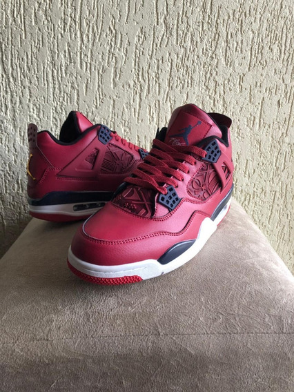 Tênis Nike Air Jordan 4 Gyn Red