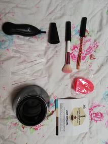Set Limpiador De Brochas & Paleta Glitter