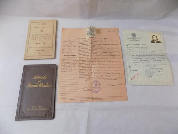 Documentos Antiguos Personales Decada De 50 Elegir Coleccion