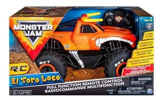 Monster Jam Camioneta El Toro Loco Control Remoto
