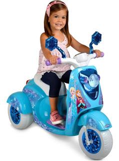Moto Scooter Disney Frozen Montable 3 Ruedas 6 Voltios !!