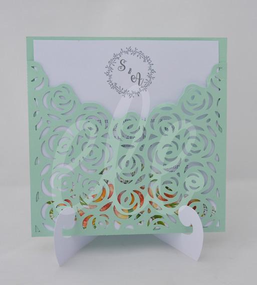 Invitaciones Caladas Casamiento / 15 Años -