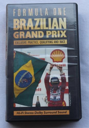 Imagem 1 de 1 de Fita Vhs Gp Brasil De Fórmula 1 1991 - Original