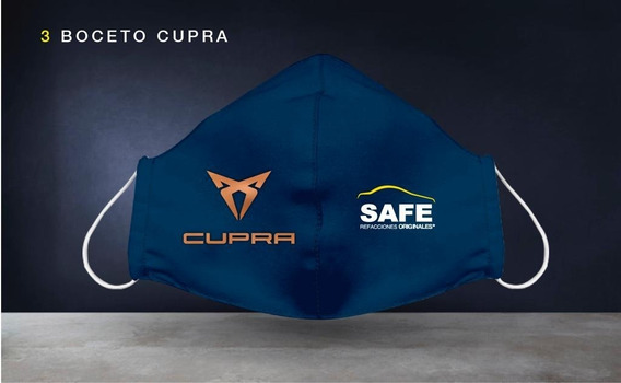 Cubre Boca Cupra Azul Edición Safe Refacciones