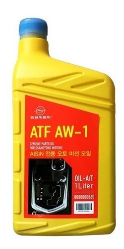 Imagen 1 de 3 de Aceite Atf Aw-1 Caja Aisin 6a/t Original Ssangyong 1 Litro