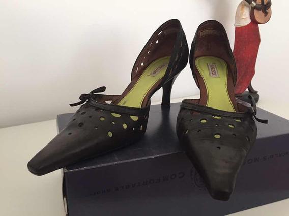 Zapatos De Cuero Negro (teñidos)