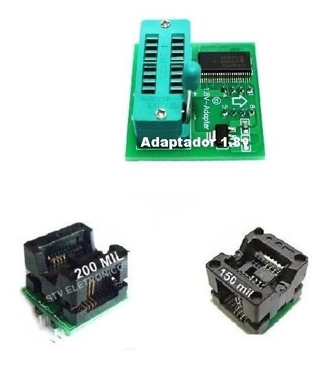 Kit 3 Adaptadores Soic8 Sop8 - Dip8 Eprom 150mil 200mil 1.8v