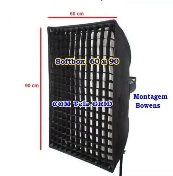Softbox 60 X 90 + Colméia Grid