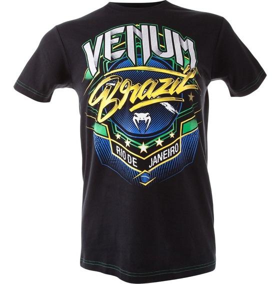 Venum Brazil Camisa Camiseta Moto Mma Ufc Original Gg Slim