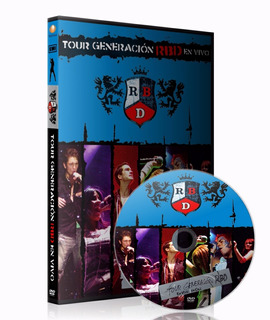 Dvd Rbd Live In Cali - Colombia Tour Generación