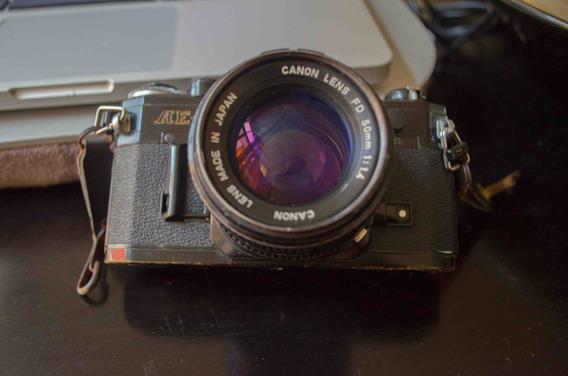 Camara Canon Ae1, Lente 50mm 1:4, Operativa