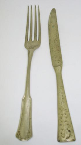 Tenedor Y Cuchillo Antiguo Para Niños