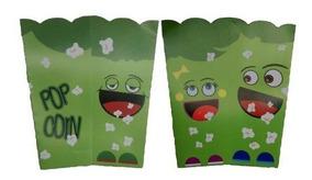 100 Caixa Para Pipoca Média - Verde (2 Pacotes)