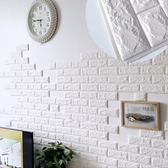 Papel Tapiz Lavable Textura 3d De Ladrillos Con Relieve Para Muro O Pared Interior Decoración Para Cuarto Sala
