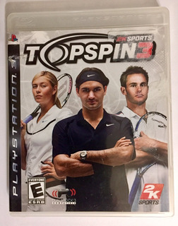 Top Spin 3 Ps3 Con Portada Y Manual Envío Gratis