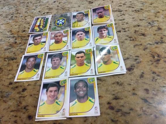 Lote 14 Figurinhas Copa 2002 - Frete Grátis