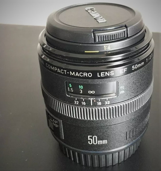 Lente Canon Macro 50mm 2.5 Full Frame E Cropada