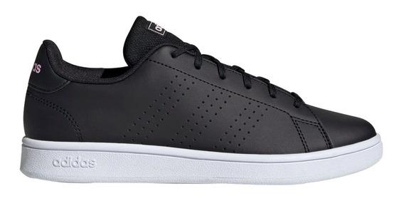Tenis adidas Advantage Dama Negro Suela Blaca 100% Originales Casuales/deportivos Comodos
