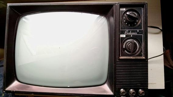 Tv 14 Broksonic Preto E Branco Funcionando