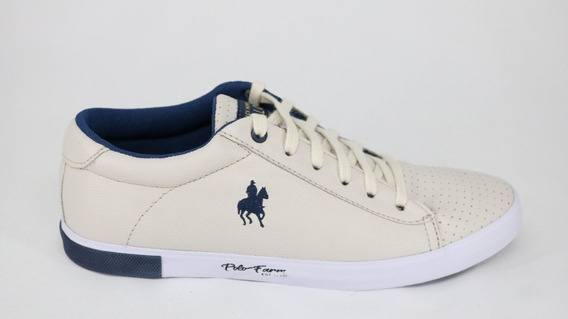Tênis Polo Black Horse Farm Off White/marinho - 42 - Off Whi