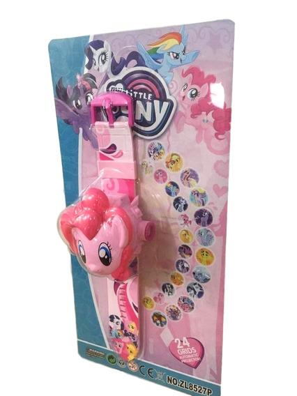 Relógio Infantil Little Pony Projetor De Imagem 24 Grids