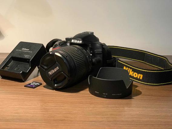 Câmera Nikon D3200 Com Lente 18-105 - Pouquíssimos Cliques