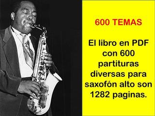 Saxofon Libro De Partituras