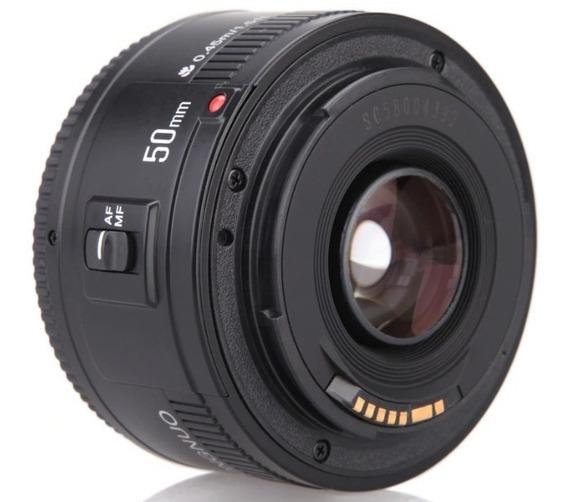 Lente Yongnuo 50mm 1.8 Pronta Entrega Para Canon