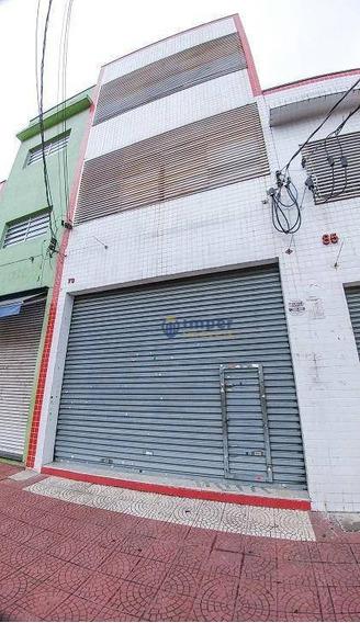 Prédio Comercial Para Locação, Pari, São Paulo. - Pr0086