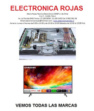 Reparación Tv Plasma Lcd Led Smart Tv Lg Samsung Aoc Master